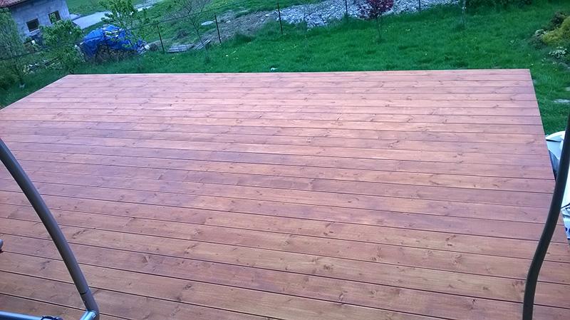 Skoczów - taras drewniany