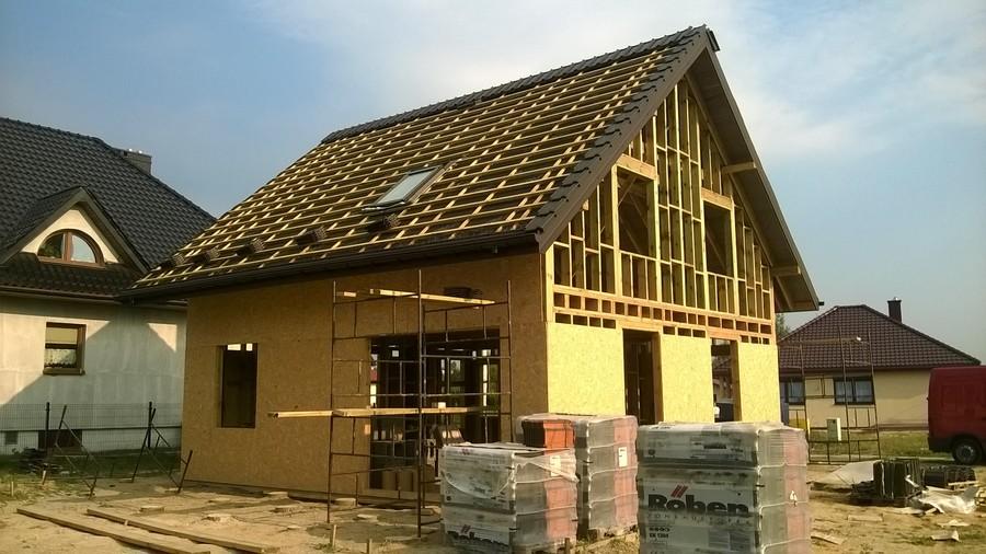 Chełm Śląski - dom jednorodzinny, stan surowy, otwarty