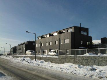 Kieller (Norwegia) - drewniany budynek wielorodzinny, modułowy