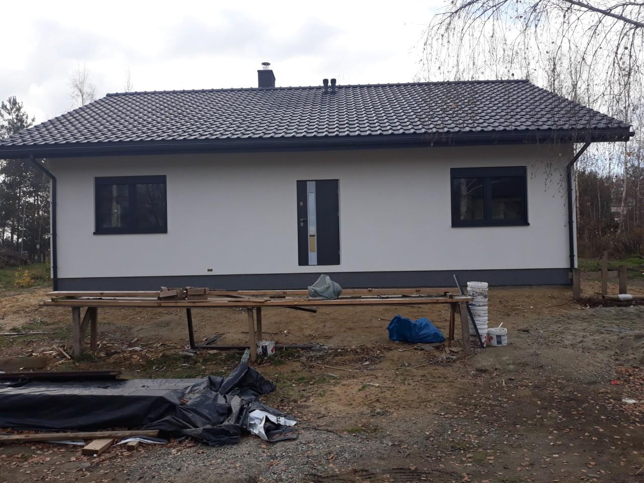 Turza Śląska - mały parterowy dom szkieletowy