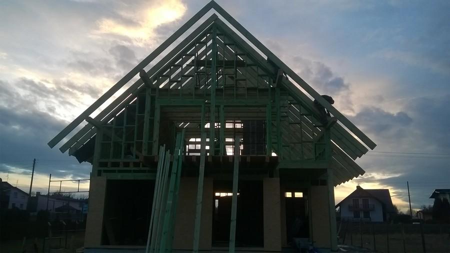 Bełk - dom drewniany z poddaszem