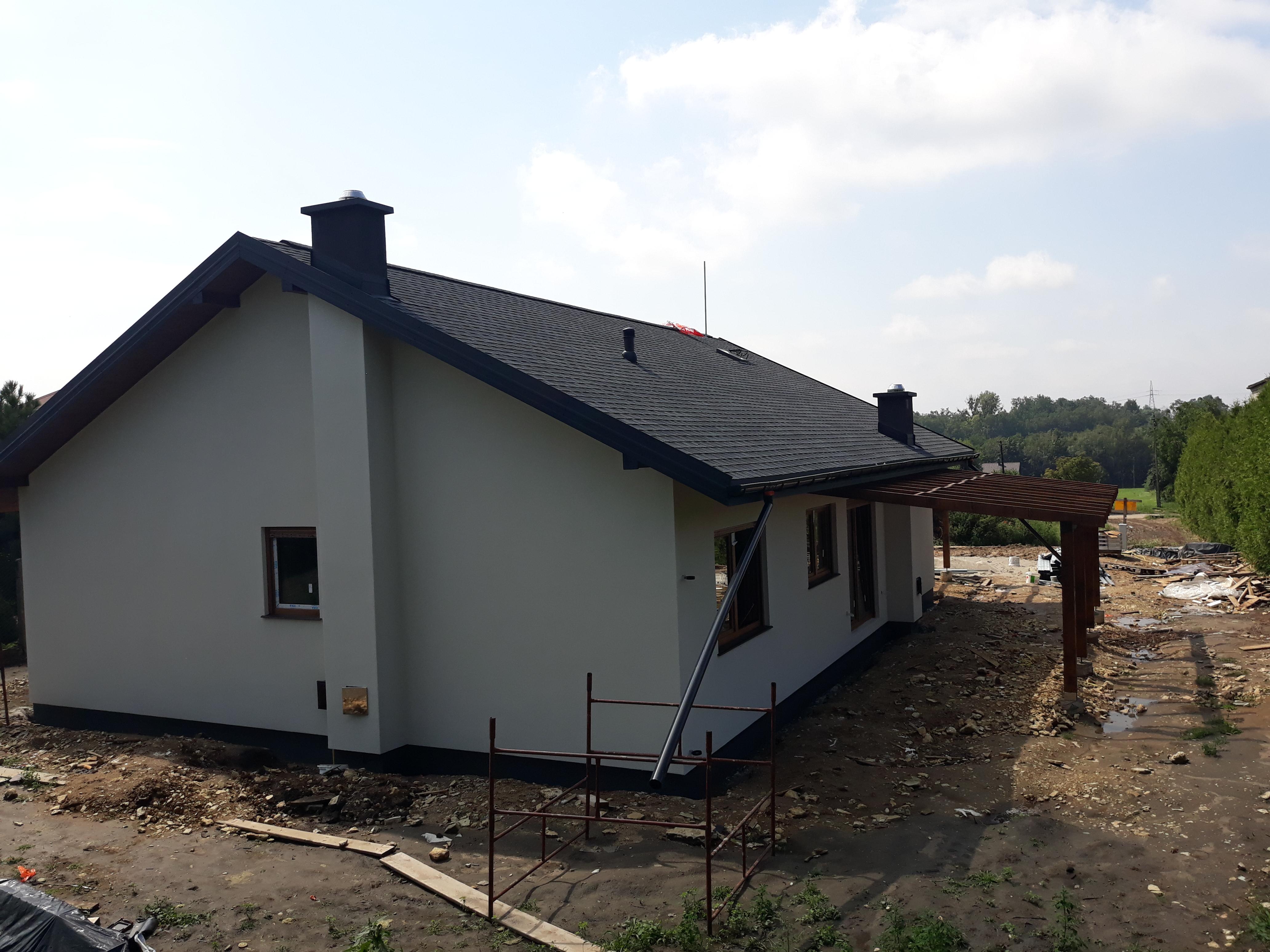 Wojkowice - średni dom parterowy w technologii szkieletowej