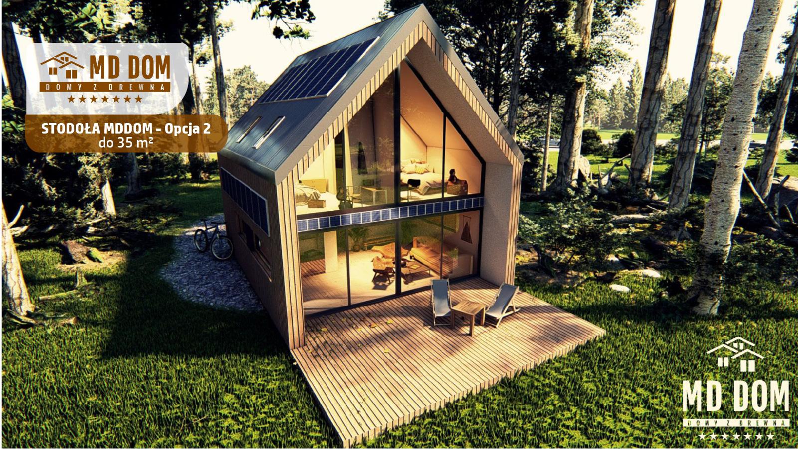 projekt stodoła md dom 35m2 opcja 2